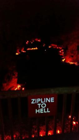 Louisville Caverns Zipline to Hell