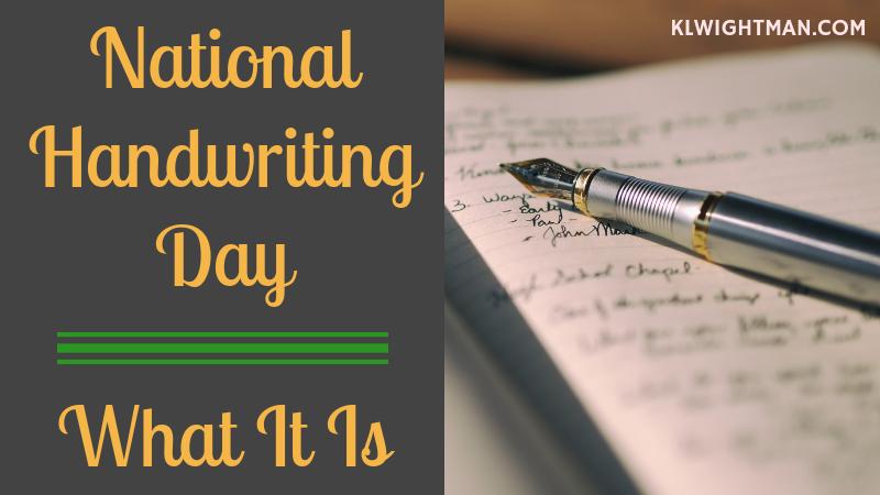 national handwriting day via klwightman.com
