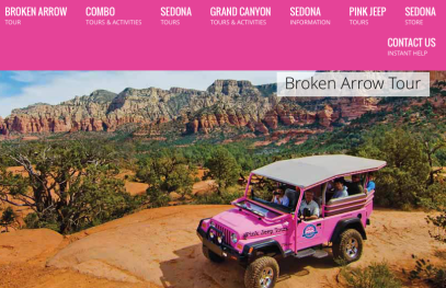 Pink Jeep Tour Sedona Arizona Broken Arrow Tour