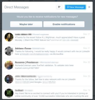 Twitter DM inbox