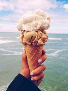 Ice cream cone at the beach