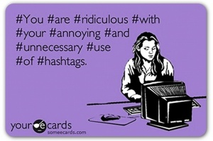 What an overuse of hashtags looks like
