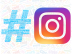 The Instagram hashtag is not like the Facebook hashtag