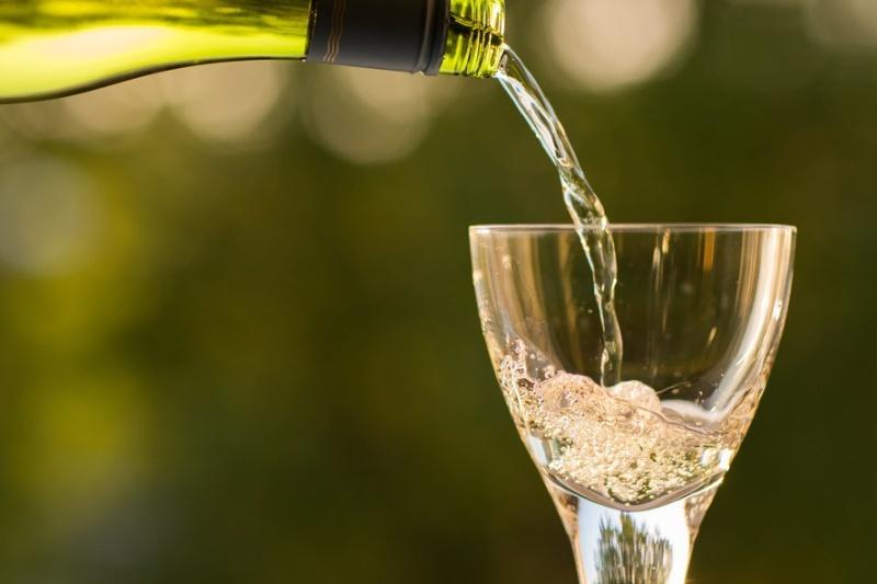 Pouring Wine Glass Celebration