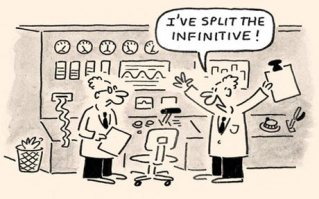 Split Infinitives Lab Cartoon