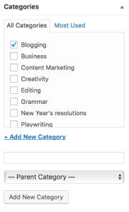 KLWightman.com Categories View (in a blog post)