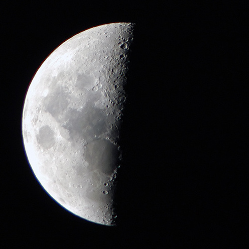 definition of third quarter moon picture and images